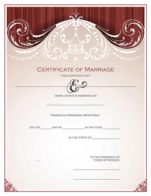 Renaissance Marriage Certificate
