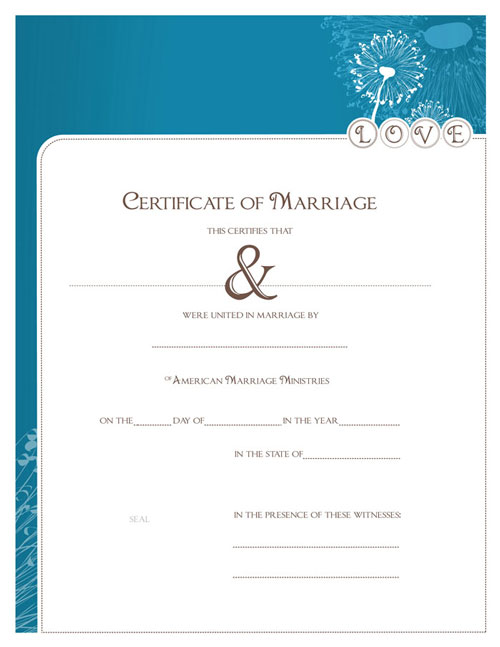 Modern Marriage Certificate