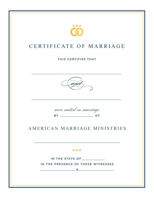 Signature Marriage Certificate