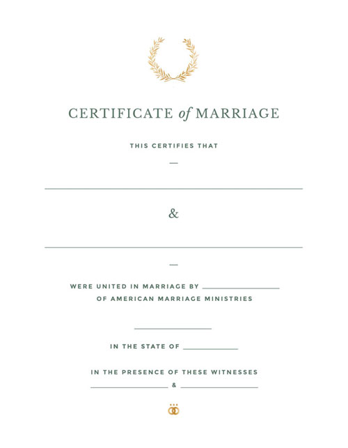 Crest Marriage Certificate