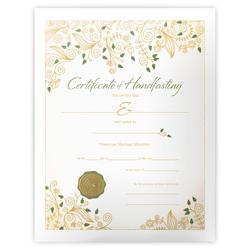 Handfasting Certificate