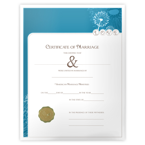 'Modern' Marriage Certificate
