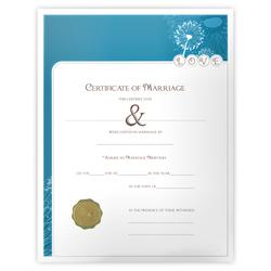 'Modern' Marriage Certificate