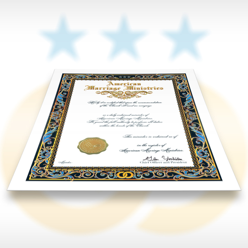 Ordination Certificate - American Marriage Ministries