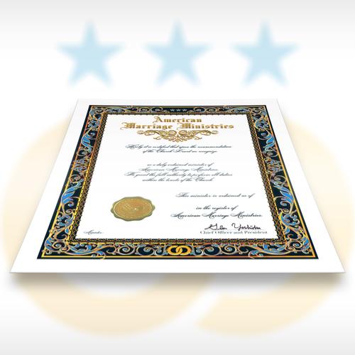 AMM Ordination Certificate