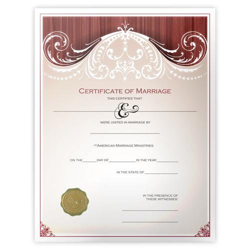 'Renaissance' Marriage Certificate