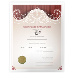 'Renaissance' Marriage Certificate