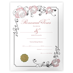 Renewal of Vows Certificate