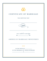 AMM Signature Marriage Certificate