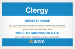 AMM Clergy Badge