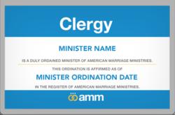 AMM Clergy Badge