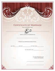 Personalized 'Renaissance' Marriage Certificate
