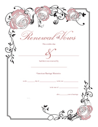 Personalized Renewal of Vows Certificate