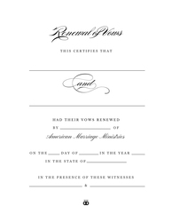 Personalized 'Timeless' Renewal of Vows Certificate