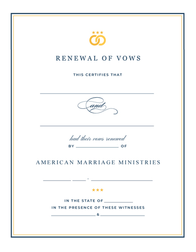 Signature   renewal of vows