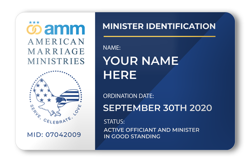 AMM Minister Wallet ID Card Front