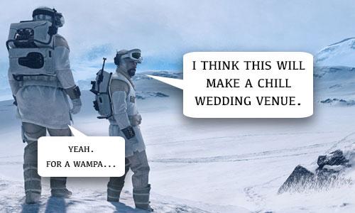 Star Wars Wedding Venue